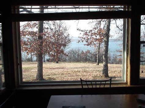 looking out window 2 bedroom cabin 7 duplex picture of tenkiller state park cabins vian tripadvisor