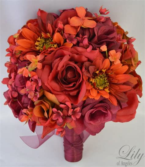 Wedding Flower Decoration Packages by 17pcs Wedding Bridal Bouquet Silk Flower Decoration