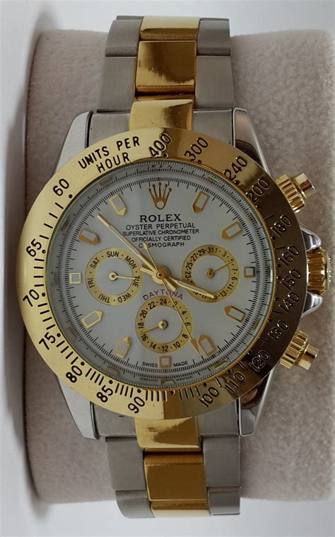 Guess Chrono Graph Grade Aaa aaa grade rolex daytona chronograph automatic mens dual tone best deals with price