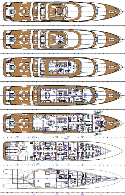 mega yacht floor plans 86m superyacht