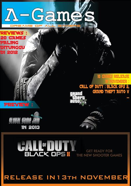 layout majalah game geek and blue cover majalah games made by me