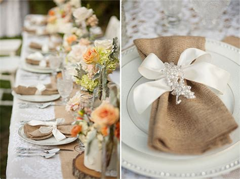 Wedding Table Decorations With Burlap best burlap wedding ideas 2013 2014
