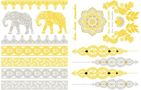 gold flash tattoo flash tattoos gold coloured flash tattoos sheebani