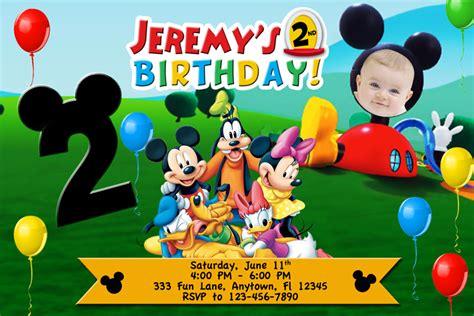 free mickey mouse birthday invitation templates how to make mickey mouse clubhouse birthday