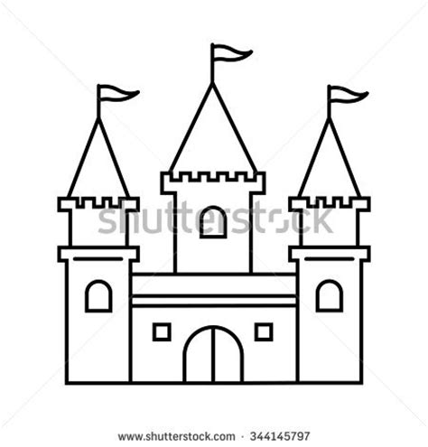 castle drawing template castle outline stock vectors vector clip