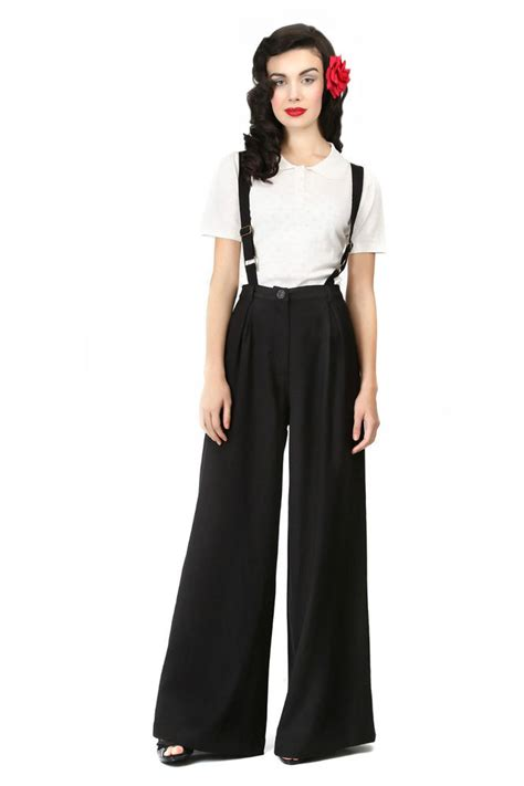 23 Classic 40s Looks by Brand New Collectif Retro High Waisted Swing Trousers With