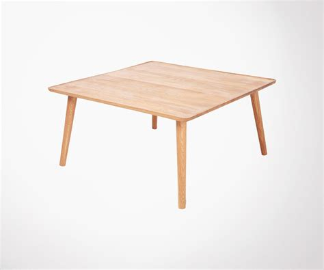 Grande Table Basse Carree by Grande Table Basse Carr 233 80cm Ch 234 Ne Massif Huil 233