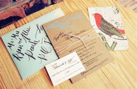 danielle rob s rustic chipboard wedding invitations