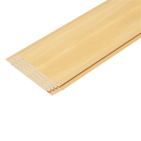 wood beadboard planks 96 quot pvc beadboard planks faux finishd in yellow pine