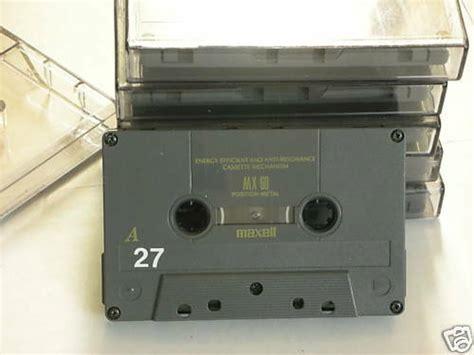 maxell audio cassette maxell mxs 60 metal bias audio cassette ebay