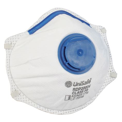 Masker Disposable unisafe p2 valved disposable respirator 10 pack