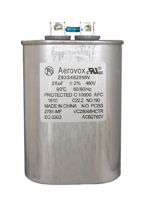 aerovox hid capacitors aerovox lighting capacitor 28uf 480 volt pulse start metal halide z93s4828mn pulse start