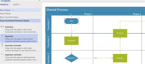cross functional flowchart visio using the cross functional flowchart phases in visio
