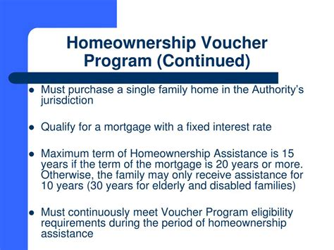 section 8 homeownership voucher program ppt south carolina state housing finance and development