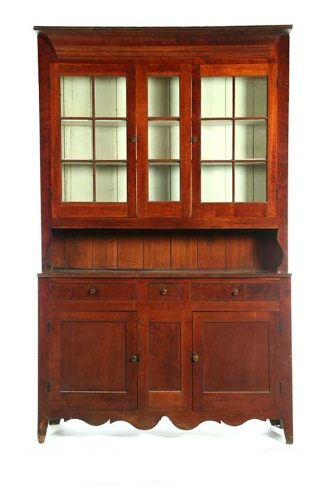 Step Back Hutch American Early 19th Century Step Back Cupboard High