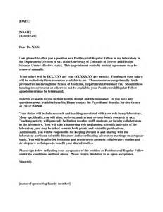 Postdoc Cover Letter Example Application Letter For Postdoctoral Fellowship Term Paper
