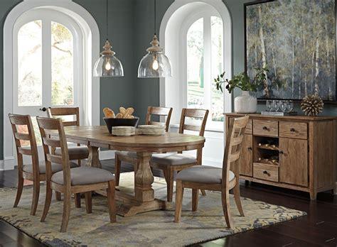 oval dining room set danimore light brown extendable oval dining room set from