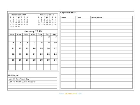 calendar template with notes january 2015 calendar blank printable calendar template