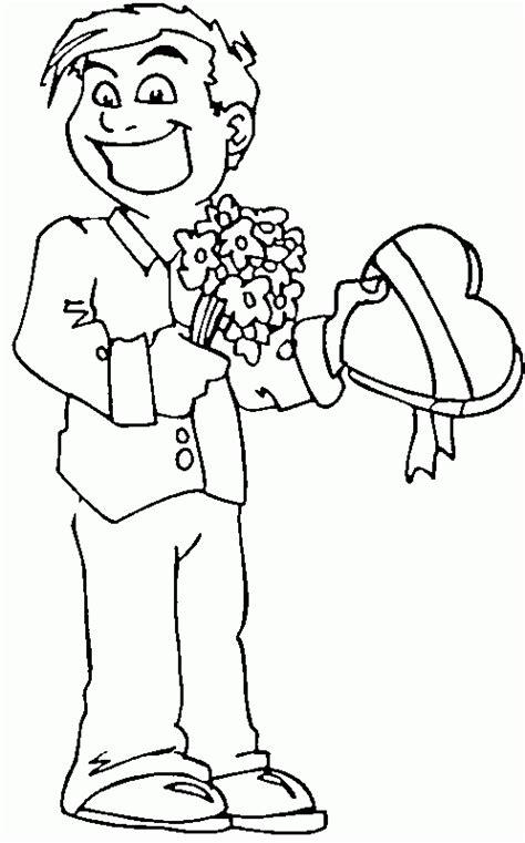 hombre de dibujos animados enamorado hombres guapos para colorear imagui