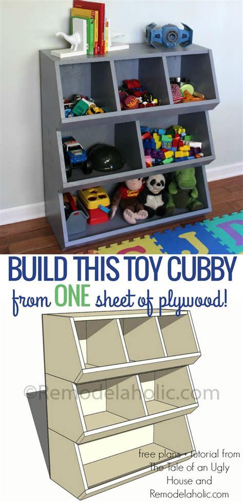 remodelaholic   build  toy cubby shelf boys