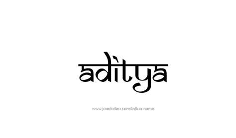 aditya name tattoo designs