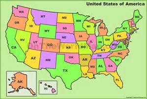 Us State Abbreviations Map by 50 States Capitals And Abbreviations