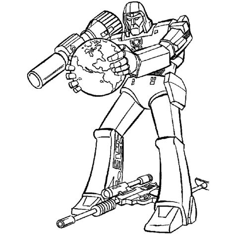 Free Coloring Pages Of Optimus Prime Megatron Megatron Coloring Pages