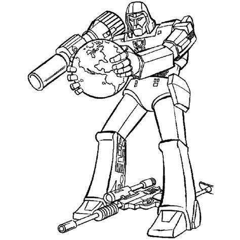 Coloriage Transformers Megatron A Imprimer Gratuit