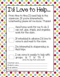 Parent Helper Letter 1000 Ideas About Parent Volunteers On Parent
