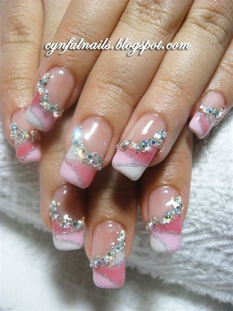 Nägel Muster Glitzer 3428 by Nails With Glitter In Pink With Glitter Nail