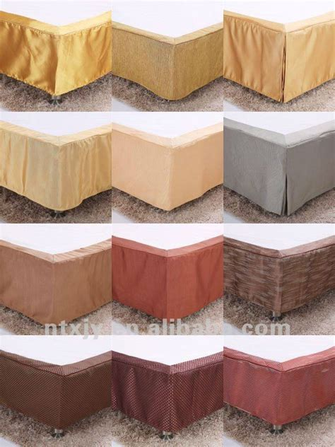 king size poly pleated hotel bed skirt buy hotel bed