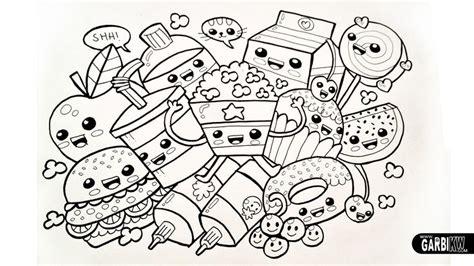 Kawaii Chibi Dancing Food Black White Line Drawing Kawaii Crush Coloring Pages