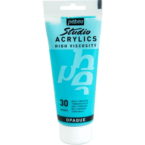 100 acrylic paint uk pebeo turquoise blue studio acrylic paint 100ml hobbycraft