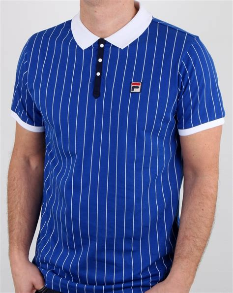Poloshirt Fila Bb Vintage 80s Fila Vintage Bb1 Polo Shirt Blue Mens Polo Stripe Bj Borg