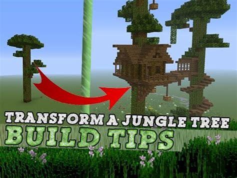 minecraft tree house build tips ideas youtube