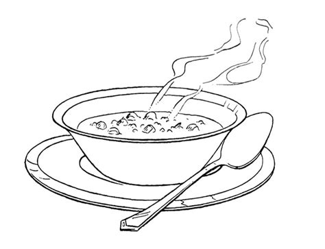 Chicken Supper Coloring Page | image result for bean soup clip art black and white
