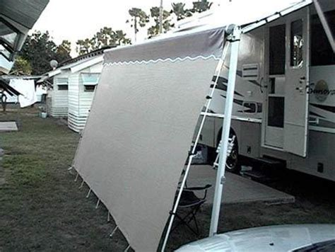 rv awning screen shade custom rv privacy sunscreen rv shade shack