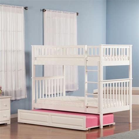 raised twin bed woodland bunkbed with twin raised panel trundle bed in