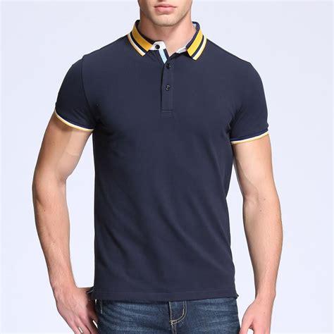 Collar Shirt Pakaian Pria Kaos Kerar Polo Shirt Diskon pakaian fashion tinggi desain kombinasi warna polo t