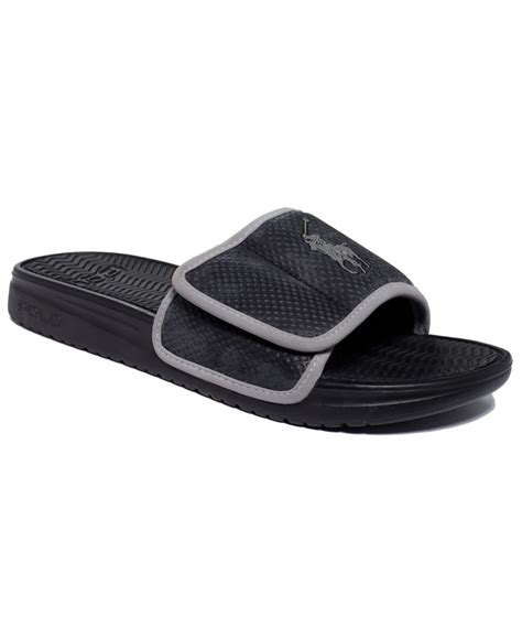 mens polo sandals polo ralph romsey sandals in black for lyst