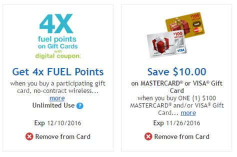 Kroger Visa Gift Card - negative cost visa mc 4x fuel points at kroger how to maximize miles to memories
