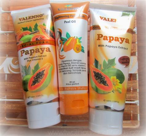 Masker Valenno skincare valenno papaya series two thousand things