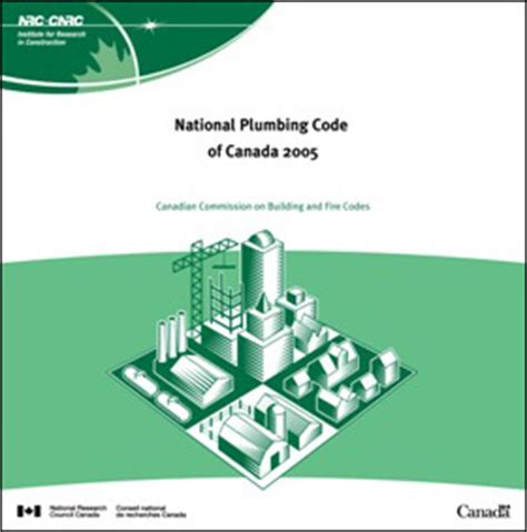 Canadian Plumbing Code by National Plumbing Code Of Canada 2005 National Research Council Canada