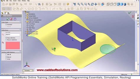 tutorial solidwork solidworks surface trim tutorial surface modeling