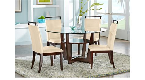 cappuccino dining room furniture collection ciara espresso dark brown 5 pc dining set with cream