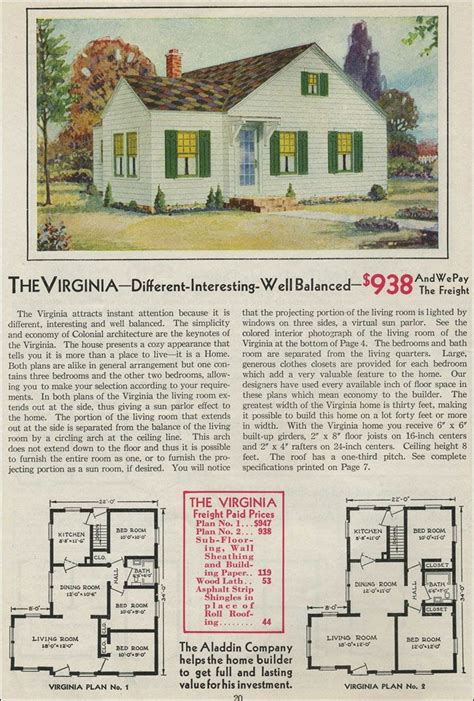 tiny house plan clipped gabled cottage aladdin kit 71 best craftsman vintage house plans images on pinterest