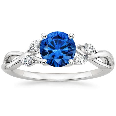 sapphire willow ring in 18k white gold 6mm