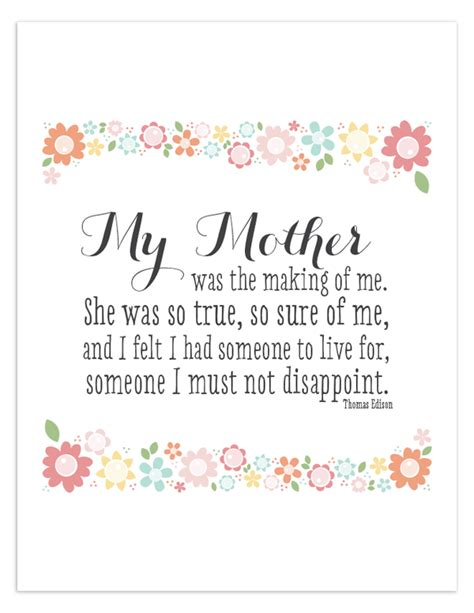 printable mom quotes my mother free printable quote free printable quotes