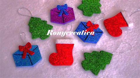 adornos para el 225 rbol de navidad hechos con foamy o goma