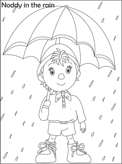 noddy coloring pages games noddy cartoon coloring pages